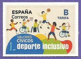 España. Spain. 2021. Valores Civicos. Deporte Inclusivo - 2011-2020 Nuovi & Linguelle
