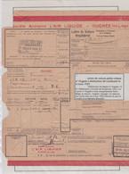 Lettre De Voiture D OUGREE  Nord Belge Societe Anonyme Air Liquide Vers Farciennes - Nord Belga