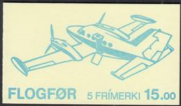 FÄRÖER Markenheftchen MH 3 Mit 125-129, Postfrisch **, Flugzeuge, 1985 - Faroe Islands
