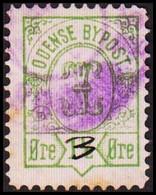 ODENSE BYPOST. 1887. 3 Manuscript On 1½ ØRE. (DAKA  20) - JF420123 - Lokale Uitgaven