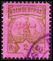 ODENSE BYPOST. 1886. 2 ØRE. (DAKA  13) - JF420124 - Lokale Uitgaven