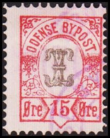 ODENSE BYPOST. 1887. 15 ØRE. (DAKA  18) - JF420125 - Lokale Uitgaven