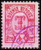 ODENSE BYPOST. 1887. 4 ØRE. (DAKA  17) - JF420126 - Lokale Uitgaven