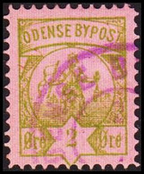 ODENSE BYPOST. 1887. 2 ØRE. (DAKA  19) - JF420128 - Lokale Uitgaven