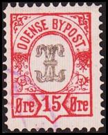 ODENSE BYPOST. 1887. 15 ØRE. (DAKA  18) - JF420129 - Lokale Uitgaven