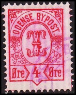 ODENSE BYPOST. 1887. 4 ØRE. (DAKA  17) - JF420130 - Lokale Uitgaven