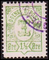 ODENSE BYPOST. 1887. 1½ ØRE. (DAKA  16) - JF420131 - Lokale Uitgaven