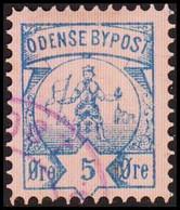 ODENSE BYPOST. 1886. 5 ØRE. (DAKA  15) - JF420132 - Lokale Uitgaven