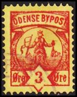 ODENSE BYPOST. 1886. 3 ØRE. (DAKA  14) - JF420133 - Lokale Uitgaven