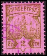 ODENSE BYPOST. 1886. 2 ØRE. (DAKA  13) - JF420134 - Lokale Uitgaven