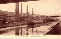 PONT SAINT-VINCENT  -  Le Canal Et L'Usine  -  Péniche  -  DD6 - Altri Comuni