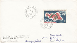 TAAF1973  Fish Cover Ca Iles Saint-Paul Et Amsterdam 12/3/1973 (52186) - Cartas