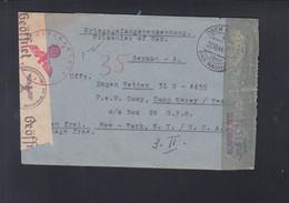 Dt. Reich Kriegsgefangenensendung 1944 Ober-Mörlen Nach USA - Storia Postale