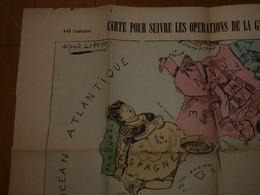 Alfred LEPETIT - Carte Caricature Pour Suivre Les Opérations De La Guerre De Tunisie -format 48 Cm X 34 Cm - Unclassified