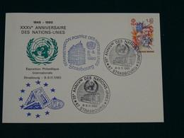 United Nations 1980 Card Strasbourg VF - Briefe U. Dokumente