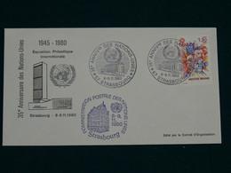 United Nations 1980 Europa Strasbourg FDC VF - Briefe U. Dokumente