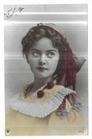 Femme Avec Coiffe à Pompons Uranotypie A.G., Steglitz. 1904 Edition NPG 322/8 - Frauen