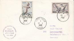 TAAF 1968 Definitives 2v Cover Ca Terre Adelie 10/1/1968 (52197) - Cartas