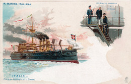 ITALIA - NAVE DA BATTAGLIA -  NON VIAGGIATA - Warships