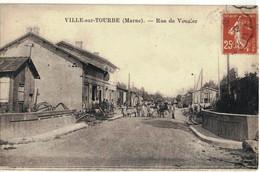 CPA   VILLE Sur TOURBE  Rue De Vouzier - Ville-sur-Tourbe