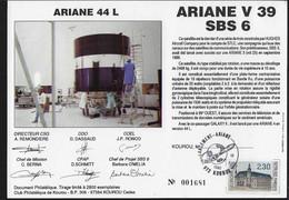 Ci9 Encart Satellite Ariane Guyane Kourou V39 - Europe