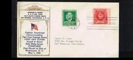 1940 - USA FDC Mi. 476 - Famous People - John Philip Sousa [P04_941] - 1851-1940