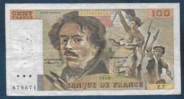 100 Francs  Delacroix  De 1978 - 100 F 1978-1995 ''Delacroix''