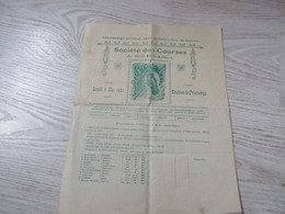 PROGRAMME DES COURSES HIPPIQUES DE SIDI BEL ABES MAI 1921 - Programs