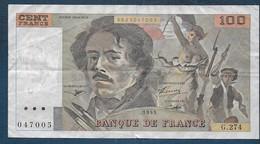 100 Francs  Delacroix  De 1995 - 100 F 1978-1995 ''Delacroix''