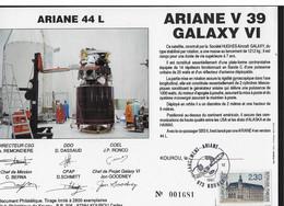 Ci9 Encart Satellite Ariane Guyane Kourou V39 Galaxy - Europe