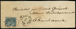 Norwegen 4 Skill Wappen 1867  Mi.14  SANDEFJORD 27.07.18?? Nach CHRISTIANIA  Norway Norvege Noruega - Covers & Documents