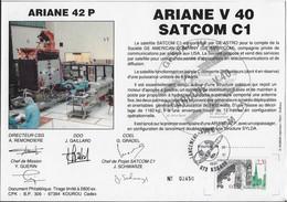 Ci11 Encart Satellite Ariane Guyane Kourou V40 - Europe