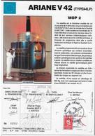 Ci12 Encart Satellite Ariane Guyane Kourou V42 - Europe