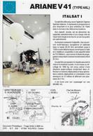 Ci12 Encart Satellite Ariane Guyane Kourou V41 - Europe