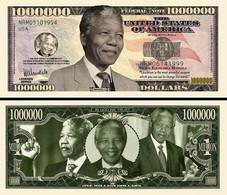 USA 2013 1 Million Dollar Novelty Banknote 'Nelson Mandela' - International Legend Series - NEW - UNCIRCULATED & CRISP - Other - America