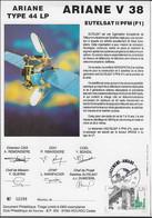 Ci13 Encart Satellite Ariane Guyane Kourou V38 - Europe