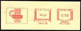VOLLEYBALL - THE NETHERLANDS WOERDEN 1992 - NEVOBO - FRAGMENT Cm 13,4x4,9 - Volleyball