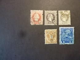 LEVANT AUTRICHIEN, Années 1867 à 1908, N°3 - 6 - 6a - 8 - 48a Oblitérés, Dentures Imparfaites. - Oriente Austriaco