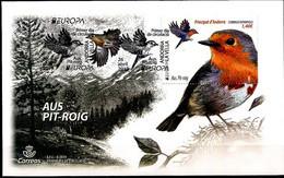 Europa 2019 - Andorre Espagnole - Oiseau (pit Roig , Rouge-gorge, Passereau) FDC - Sperlingsvögel & Singvögel