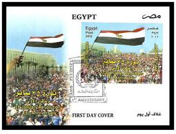 Egypt - 2012 - FDC - ( 25 January Revolution 1st Anniversary - Tahrir Square, Cairo - Egypt ) - Nuovi