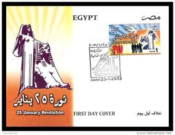 Egypt - 2013 - FDC - ( 25 January Revolution 2nd Anniversary - Tahrir Square, Cairo - Egypt ) - Nuovi