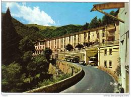 Carte Postale  66.   La Preste  Arrivée De L'autobus Au Grand-hotel  Très Beau Plan - Otros Municipios