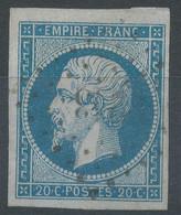 Lot N°61670    N°14A, Oblitéré PC 3243 St-Pierre-du-Vauvray, Eure (26), Ind 12, Bonnes Marges, Sans Pli, Ni Clair - 1853-1860 Napoléon III.