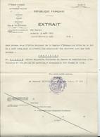 DOCUMENT MILITAIRE - EXTRAIT - Est Promu Dans L'ordre National CHEVALIER DE LA LEGION D HONNEUR - Documents