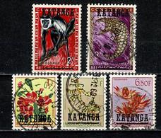 Katanga 1960 OBP/COB 12, 16, 31, 32, 36 Used - Katanga