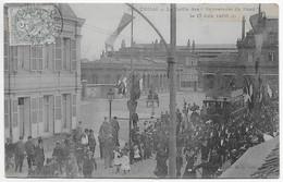 """CPA 59 DOUAI LE DEFILE DES SAUVETEURS DU NORD LE 17 JUIN 1908  **Légèrement Ondulée"""" - Douai"""
