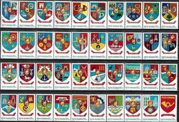 1976-1977 - ROMANIA DISTRICT'S COAT OF ARMS - 40 STAMPS - Neufs