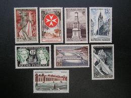 1050-1051-1059-1061-1062-1065-1078-1079  Lot De 8 Timbres Monuments Et Sites   NEUF** - Ohne Zuordnung