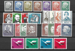 Allemagne/RFA Six Bonnes Séries Complètes Neufs ** MNH 1953/1957. TB. A Saisir! - Unused Stamps