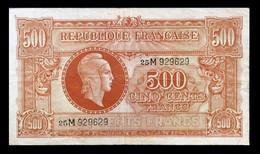 # # # Seltene Banknote Frankreich (France) 500 Francs 1943 # # # - 500 F 1940-1944 ''La Paix''
